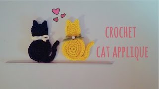 How To Crochet A Cat Applique | English Tutorial