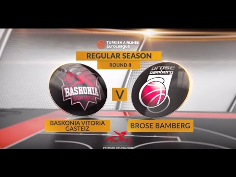 EuroLeague Highlights RS Round 8: Baskonia Vitoria Gasteiz 81-74 Brose Bamberg