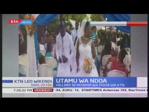 Mhariri wa picha wa KTN, Hillary Wanjohi afunga pingu za maisha na mpenzi wake Loice Ngare