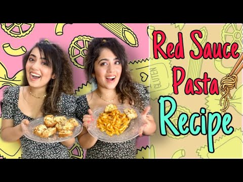 RED SAUCE PASTA RECIPE 🍝 COOK WITH CHINKI MINKI | TWINS