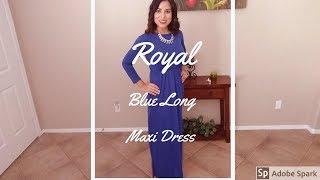 ZIOOER Women Long Sleeve Loose Plain Maxi Dresses Casual Long Dress With Pockets
