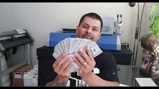 HOW MUCH MONEY MY T SHIRT BUSINESS MADE IN THE FIRST MONTH!!