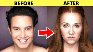 10 Amazing Makeup Transformations   Makeup Photos BEFORE & AFTER