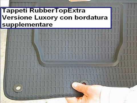 tappeti in gomma SU MISURA per tutte le auto, alta qualità e prodotti in Italia