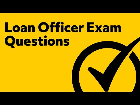 Loan Officer Exam Prep (PRACTICE QUESTIONS) - YouTube