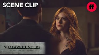 Shadowhunters | Season 2, Episode 12: Simon Questions Clary About Jace | Freeform