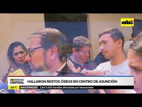 Hallaron restos óseos en el centro de Asunción