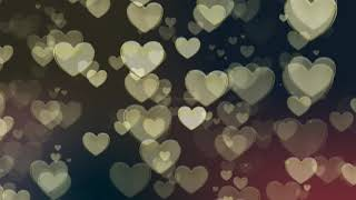 golden moving hearts background | Heart motion Background | love heart background video effects hd