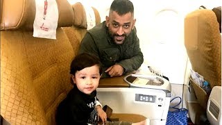 Watch: MS Dhoni gives cute language lesson to his daughter | IPL 2019 | Chennai Super Kings