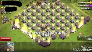 1000 Max Level 7 Golems Vs Max Eagle Artillery ON | COC PRIVATE SERVER