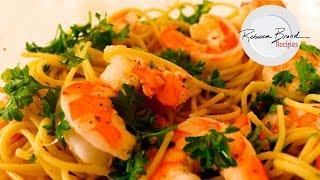 Garlic Shrimp Spaghetti Recipe |Classic Aglio e Olio Recipe with Shrimp
