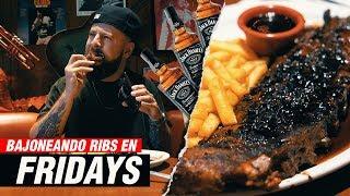 Bajoneando las RIBS con Salsa Jack Daniels de Fridays