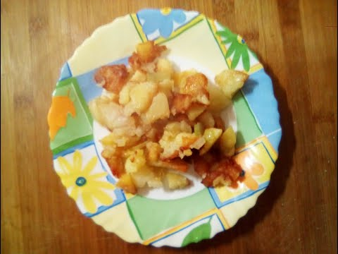 Картошка жаренная на сале от Луча. Fried potatoes in lard. 猪油炸土豆