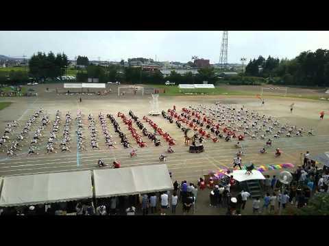 H27.9.12 佐野市立田沼西中学校マスゲーム part1
