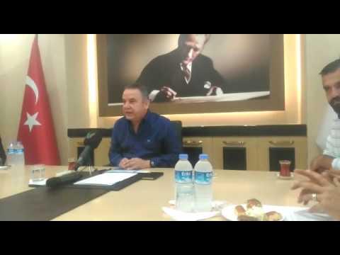 Konyaaltı Belediye Başkanı Muhittin Böcek, Feslikan Yaylası Şenlikleri ile ilgili basın toplantısı yaptı