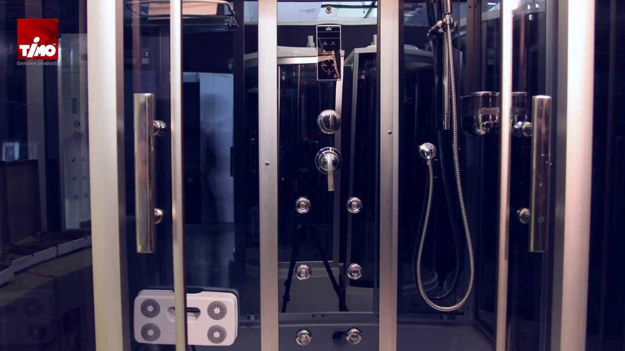 Душевая кабина с ванной Timo T-1150 150x88 видео