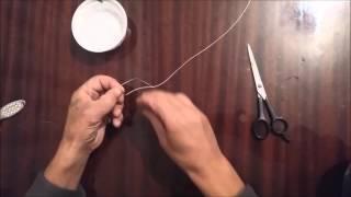 Как привязать крючок блесну к леске