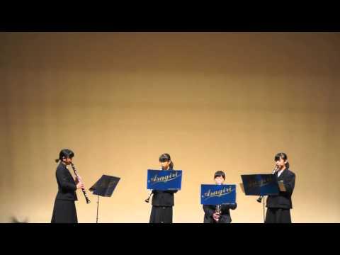 中ホール7. 朝霧中学校  クラリネット4重奏