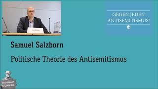 Samuel Salzborn – Politische Theorie des Antisemitismus