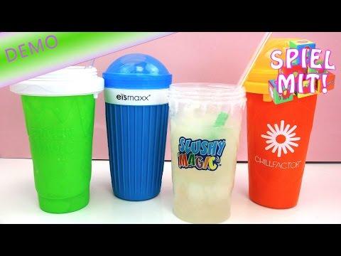 Slush ice Becher Sammlung - Der große Iceslushy Maker Test - 4 Slushy Maker im diekten Vergleich