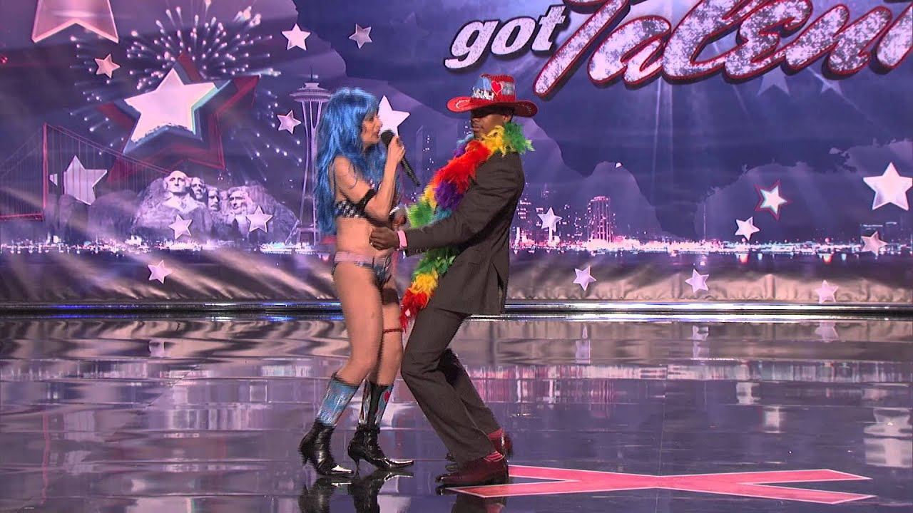 America's Got Talent - Sandy Kane the Naked Cowgirl - Audition - Season 6 thumbnail