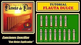 """Flauta de Pan en Flauta Dulce """"Con Notas Explicadas"""""""