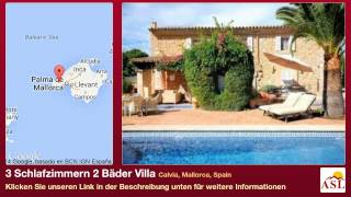 preview picture of video '3 Schlafzimmern 2 Bäder Villa zu verkaufen in Calvia, Mallorca, Spain'