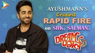 "Ayushmann Aka Pooja To Salman Khan: ""Will You MARRY Me ?""| SRK | Rapid Fire | Dream Girl"