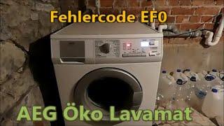 Waschmaschine reparieren - Fehler EF0 - AEG Öko Lavamat