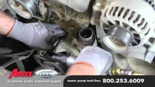 How to Install a Water Pump: 2003-96 Ford F-250 7.3L V8 diesel WP-9128 AW4119