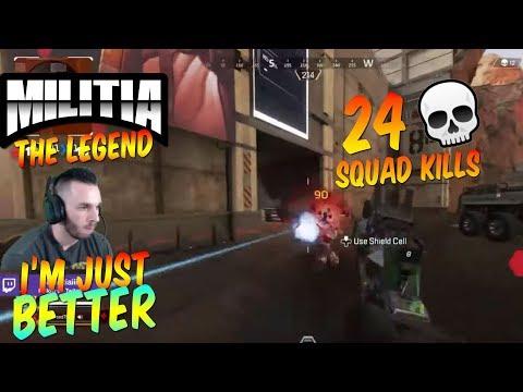 APEX LEGENDS 24 SQUAD KILLS  | MILITIA APEX XBOX ONE GAMEPLAY