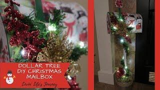 Easy Dollar Tree DIY Christmas Mailbox Decor