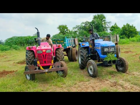 Sonalika Di 47Rx Tractor fully loaded with trolley | JCB 3DX machine | Tractor videos | CTV