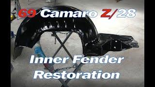 69 Camaro Z28 Z/28 Full Frame Off Restoration Video Series – Part 9 – Inner Fender Restoration