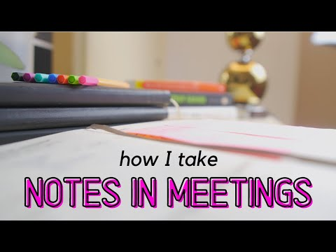 , title : 'How I take notes in meetings at work | write effective meeting notes in big 4 / mbb consulting