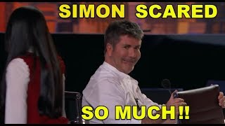 SIMON SO SCARED and HIT THE BUZZER!! WHY??  MUST WATCH IT