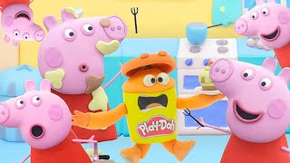 Peppa Pig Official Channel | Peppa Pig's Funny Cake | Play-Doh Show Stop Motion