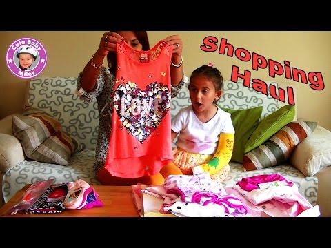 shopping haul für Kinder - Miley und Mama waren Klamotten einkaufen - Mädchen Kinderkanal