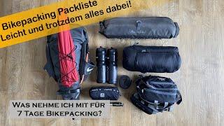 Bikepacking Packliste   Leichte Bikepacking Ausrüstung für eine Woche