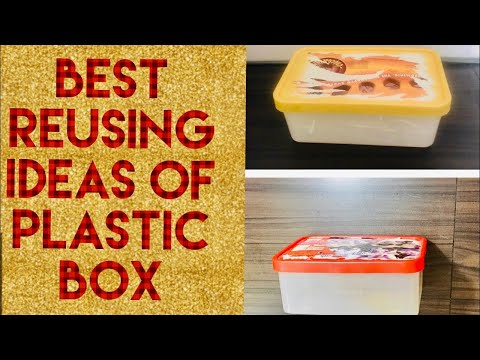 How to make gift boxes from ice cream containers//best reusing  ideas