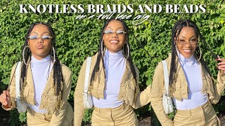 KNOTLESS BRAIDS & BEADS ON A FULL LACE WIG | CurlyMe Hair