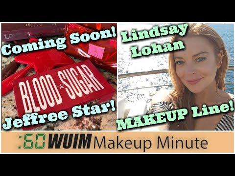 Jeffree Star Blood Sugar Palette! Lindsay Lohan's MAKEUP LINE!   Makeup Minute