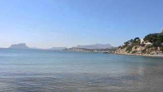 preview picture of video 'MORAIRA, plage du Cap d'Or (Espagne)'