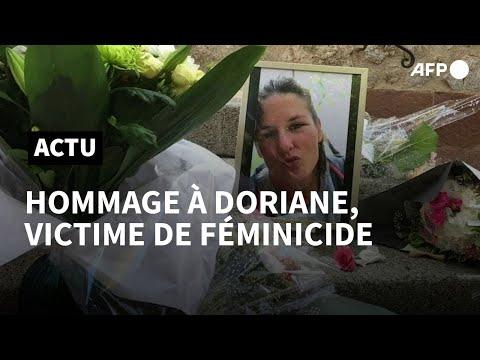 Féminicide: hommage à Doriane, 32 ans, probable victime du fugitif de Gréolières   AFP Féminicide: hommage à Doriane, 32 ans, probable victime du fugitif de Gréolières   AFP