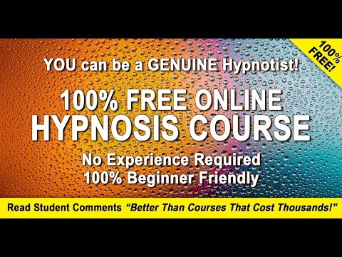 Learn Hypnosis For FREE - Discover how to hypnotise people. Free online hypnosis course.