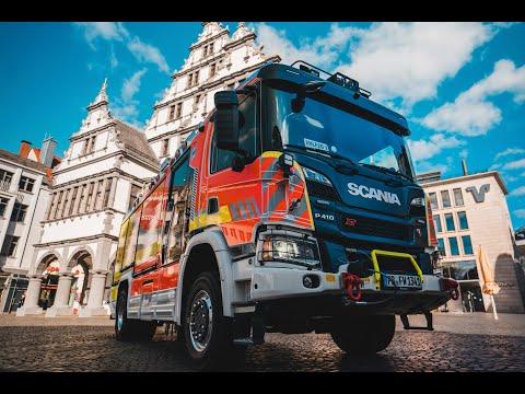 Neues Hifeleistungslöschgruppenfahrzeug HLF Feuerwehr Paderborn, Scania, Rosenbauer