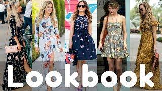 Trendy Summer Floral Dresses Lookbook 2018 | Summer Fashion Style