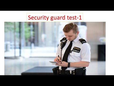 Security guard test set-1 - YouTube