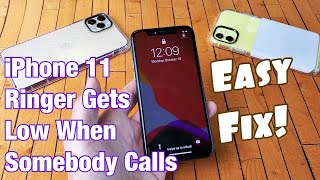 iPhone 11 / 11 Pro: Ringer Sound Volume Gets Low on Incoming Calls? Easy Fix!!!
