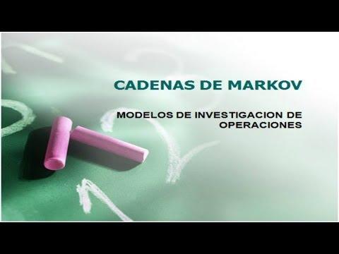 Cadenas de Markov: modelos de investigacion de operaciones